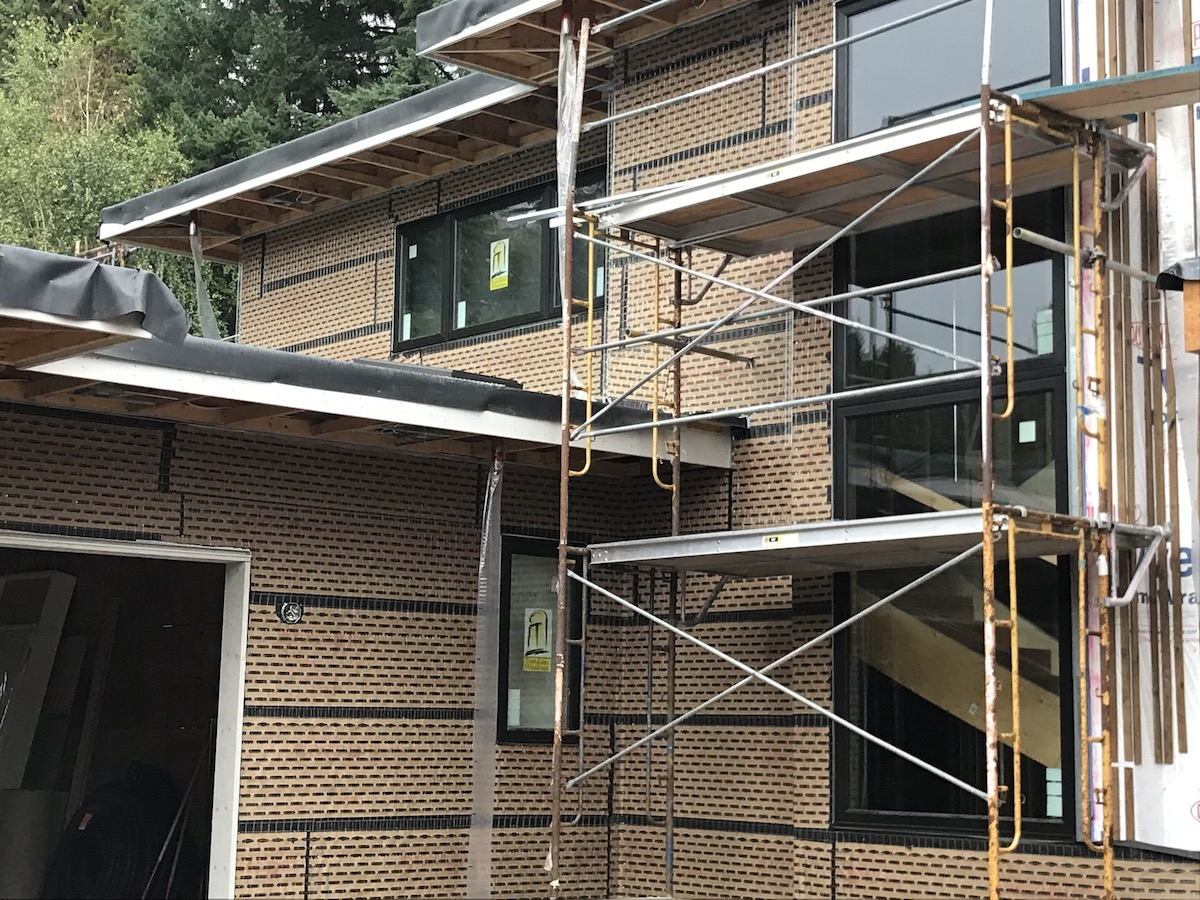 Rainscreen system Acrylic Stucco - Taylor Way West Vancouver
