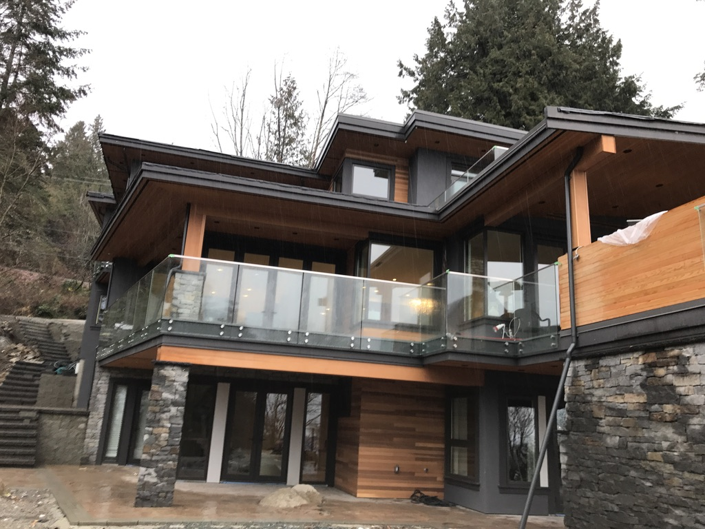 Stone Masonry Fire Place and Exterior, Marine Dr. West Vancouver