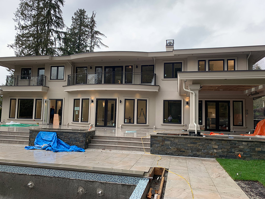 Exterior masonry, Stucco, Soffits, Taylor Way. West Vancouver